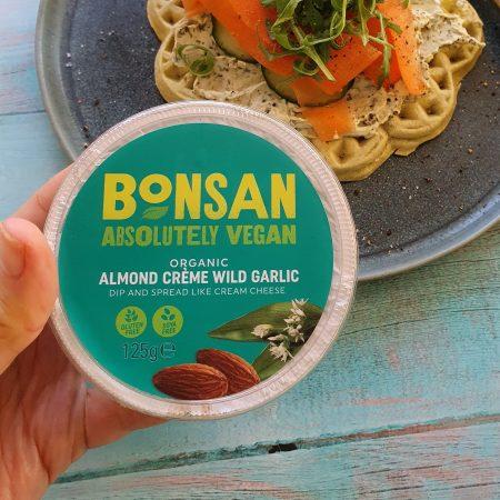 Bonsan Organic Almond Creme Wild Garlic Dip and Spread Cream Cheese