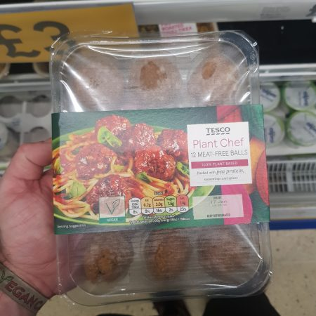 Tesco Plant Chef 12 Meat Free Balls 336g