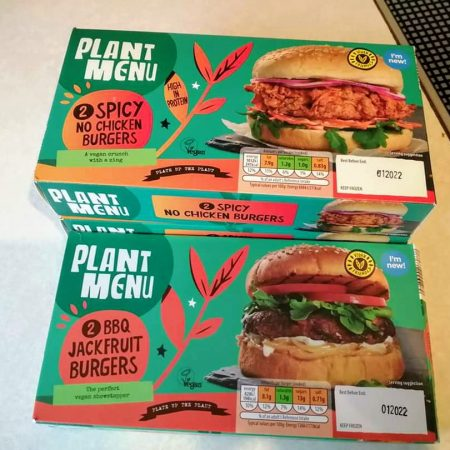 Plant Menu 2 Spicy No Chicken Burgers