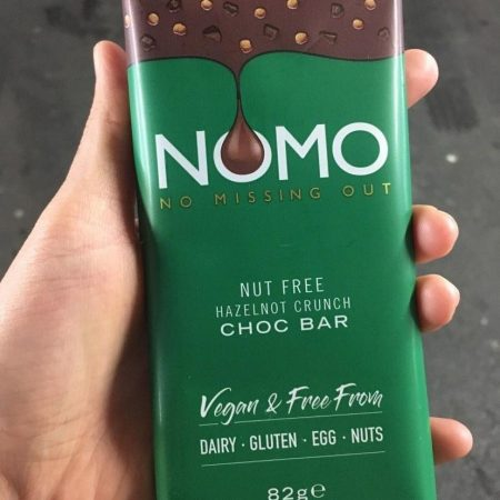 Nomo Nut Free Hazelnot Crunch Choc Bar