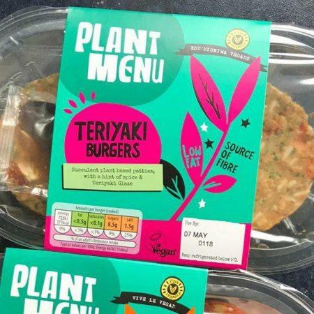 Plant Menu Teriyaki Burgers