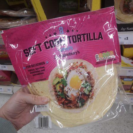 Sainsbury's Soft Corn Tortilla Wraps x8 320g