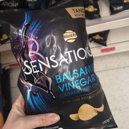 Sensations Balsamic Vinegar & Onion Crisps 150g