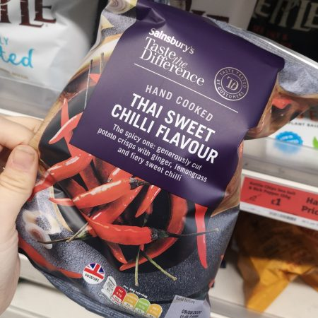 Sainsbury's Thai Sweet Chilli Crisps, Taste The Difference 150g