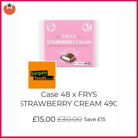 The New Fry's Strawberry Cream Selling Crazily Cheap
