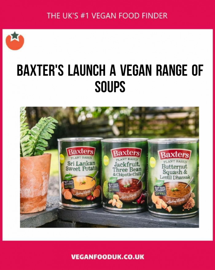 Baxter's Launch Their First Vegan Soup Range