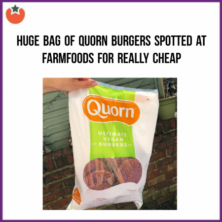 Massive Bag of Quorn Ultimate Burgers Spotted at Farmfoods
