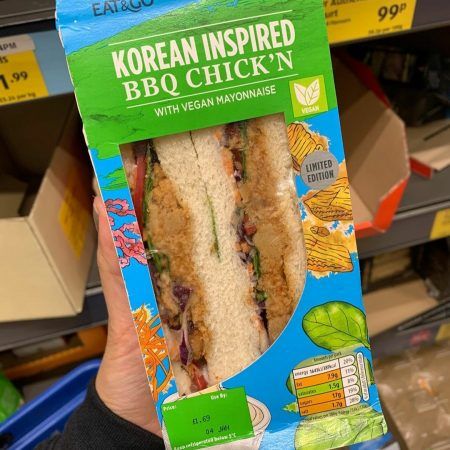 Korean Inspired BBQ Chick'n Sandwich