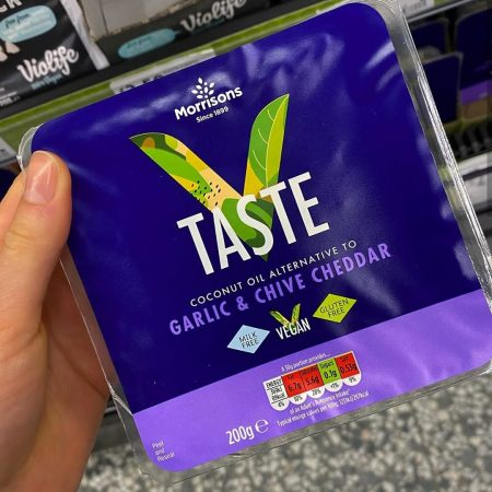 Morrisons Free From Garlic & Chive Cheddar 200g