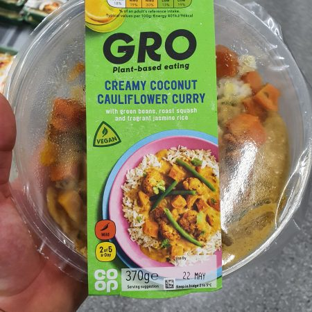 Gro Creamy Coconut Cauliflower Curry 370g