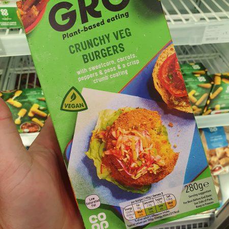 Gro Crunchy Veg Burgers 280g
