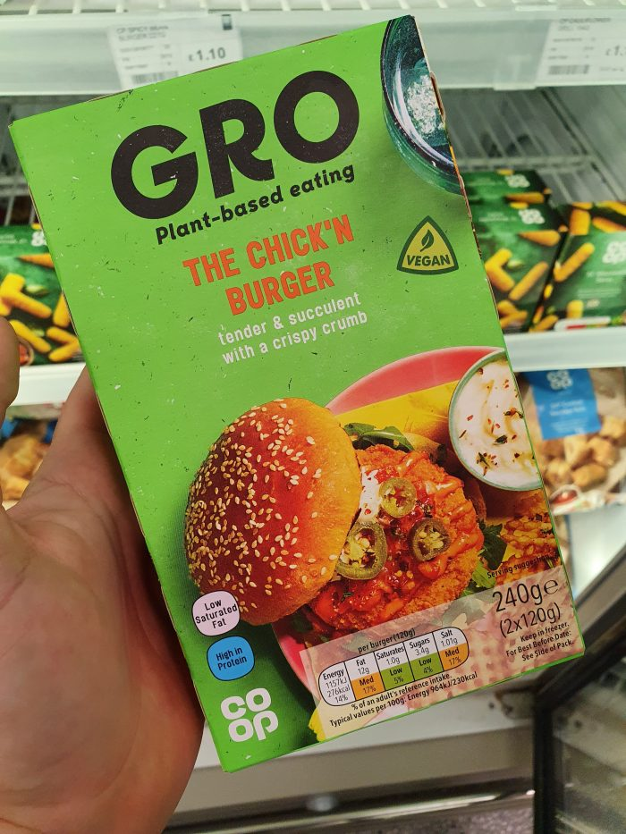 Gro The Chick'n Burger 240g
