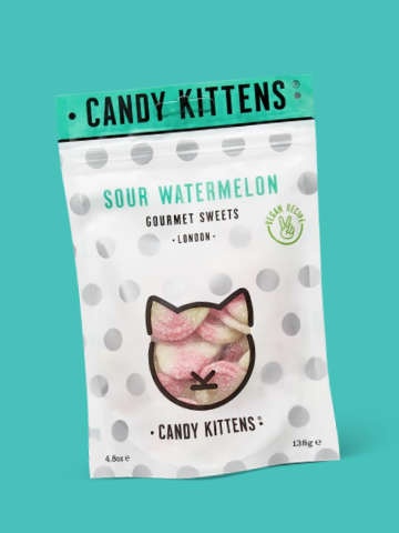 Candy Kittens Sour Watermelon Sweets
