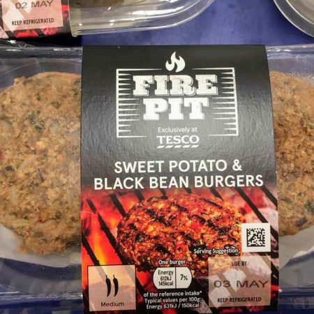 Fire Pit Sweet Potato & Black Bean Burgers