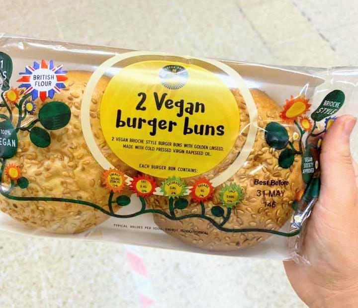 Sainsbury's Vegan Brioche Burger Buns