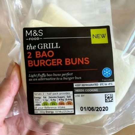 M&S The Grill 2 Bao Burger Buns