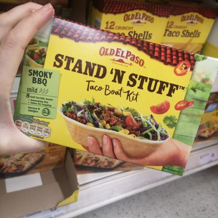 Old El Paso Smoky Bbq Stand 'N' Stuff Soft Taco Kit 350G
