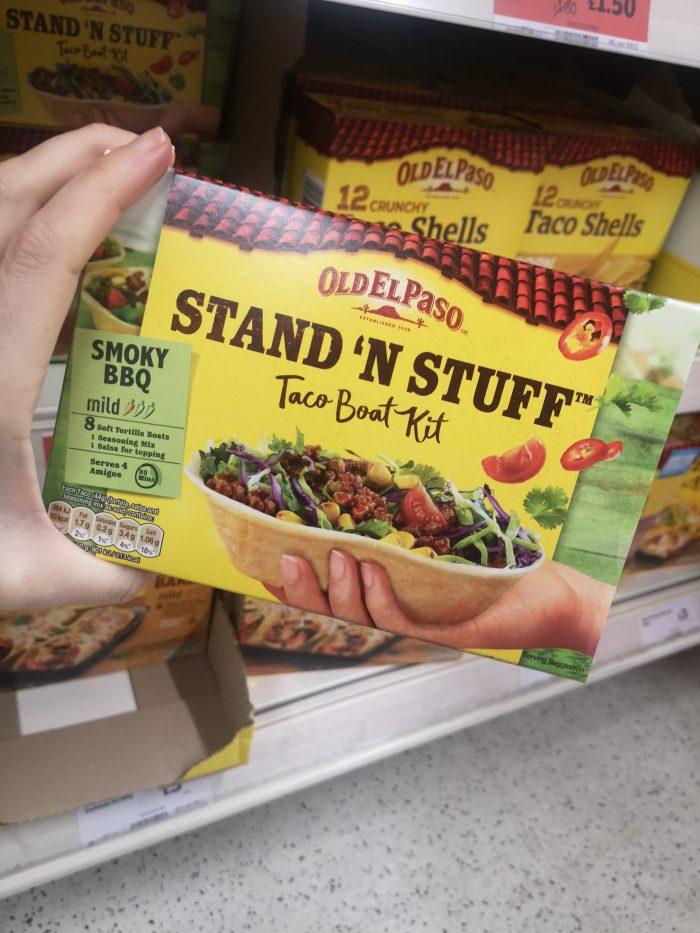 Old El Paso Smoky Bbq Stand 'N' Stuff Soft Taco Kit 350G