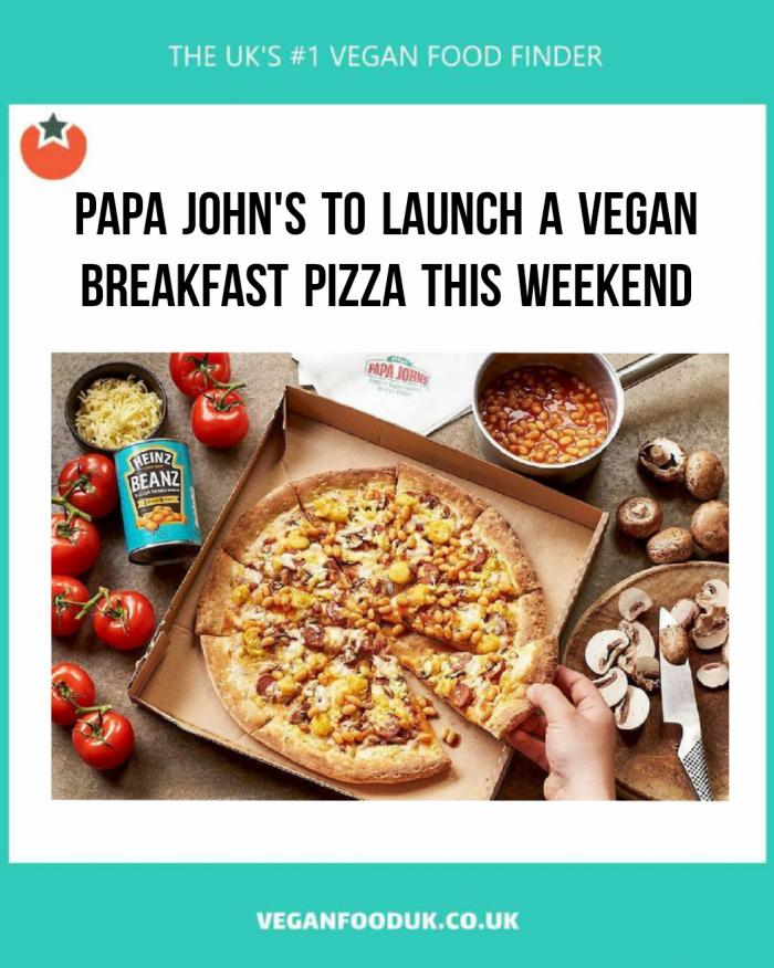 New Vegan Breakfast Pizza Launches at Papa John's