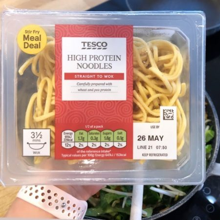 Tesco High Protein Noodles 300g