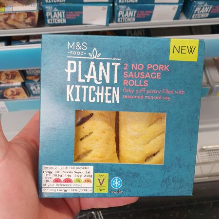 M&S Plant Kitchen 2 No Pork Sausage Rolls