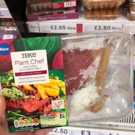 Tesco Plant Chef Fake Steak With Garlic Melt