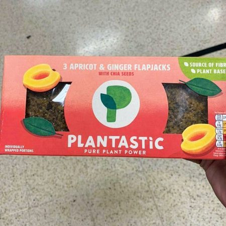 Plantastic Apricot & Ginger Flapjack 3 Pack
