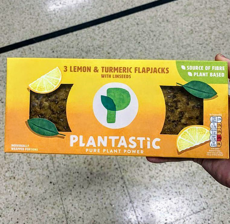 Plantastic Lemon & Turmeric Flapjacks 3 Pack