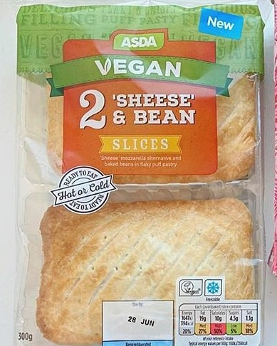 Asda Vegan 2 Sheese & Bean Slices