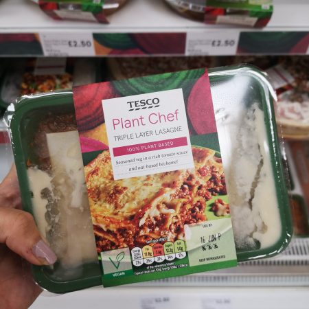 Tesco Plant Chef Triple Layered Lasagne 450G