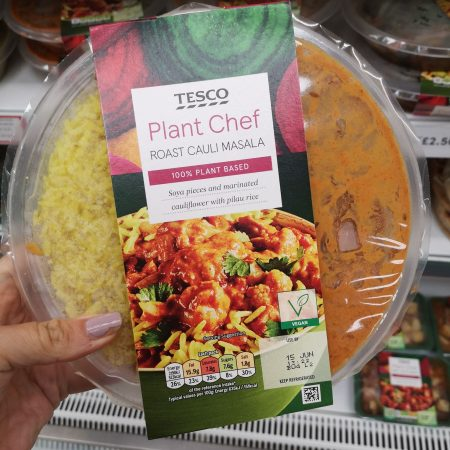 Tesco Plant Chef Roast Cauliflower Masala 375G