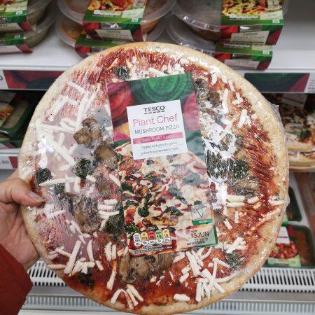 Tesco Plant Chef Mushroom Pizza 289G