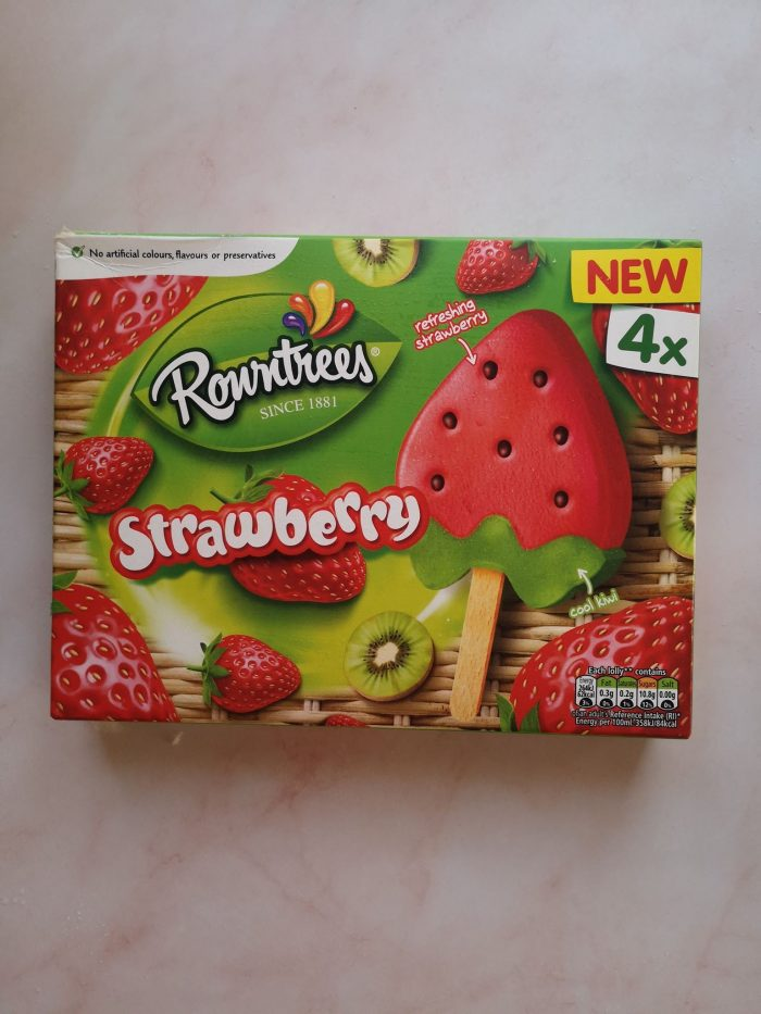 Rowntrees Strawberry Lollies 4X73ml