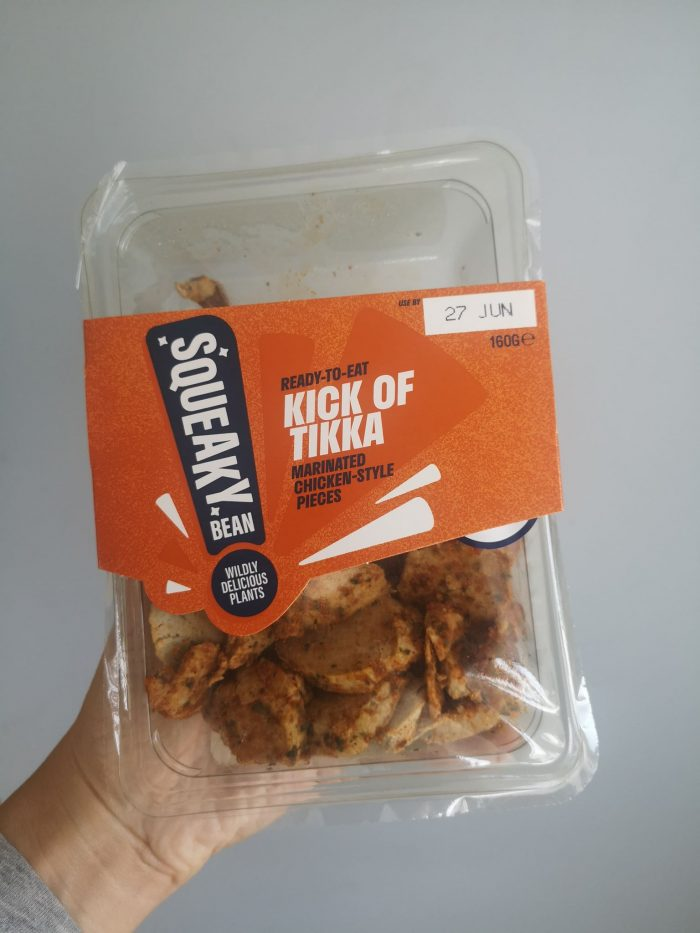 Squeaky Bean Ready To Eat Marinated Chicken Style Pieces Kick of Tikka 160g