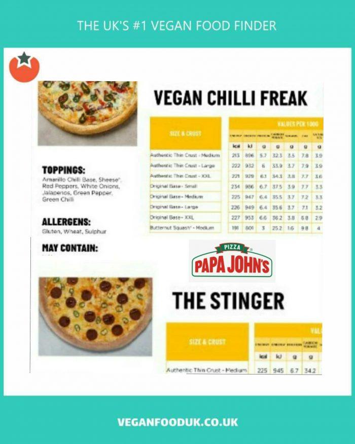Papa John's Launch Range of Spicy Vegan Pizzas