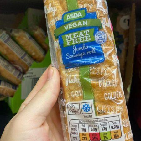 Asda Vegan Meat Free Jumbo Sausage Roll 120g