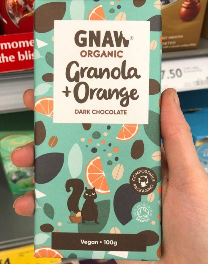 Gnaw Organic Granola & Orange Dark Chocolate 100g
