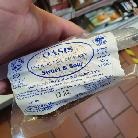 Oasis Organic Tempeh Slices Sweet & Sour 120g