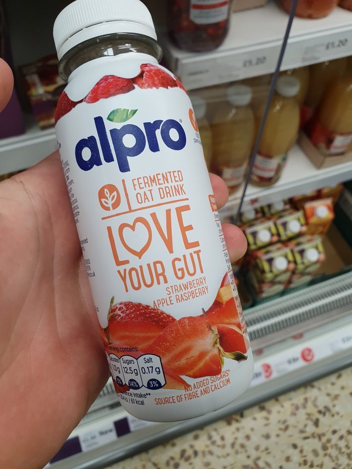 Alpro Strawberry-Apple-Raspberry Fermented Oat Drink 240ml
