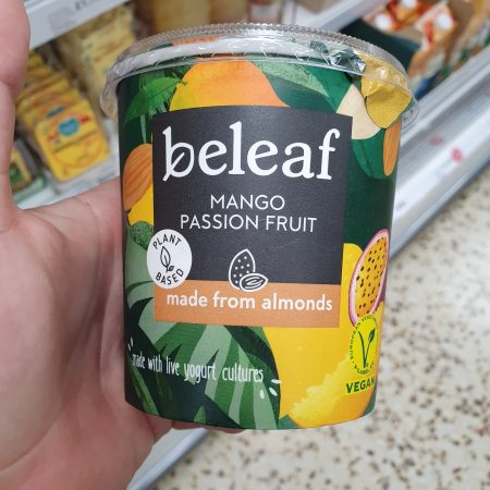 Beleaf Almond Yogurt Mango & Passion Fruit 350g