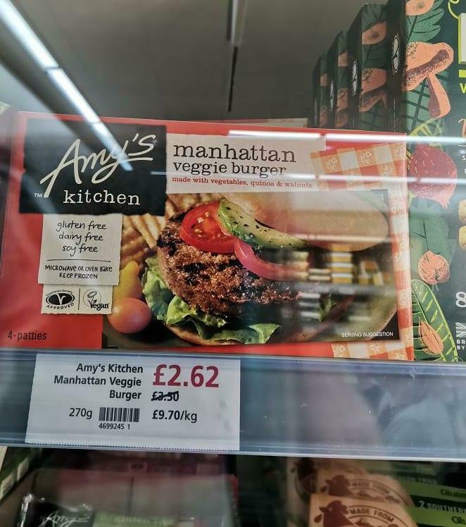 Amy's Kitchen Manhattan Veggie Burger 270g