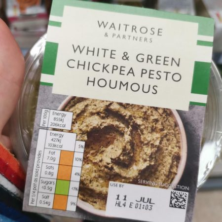 Waitrose White & Green Chickpea Pesto Houmous 200g