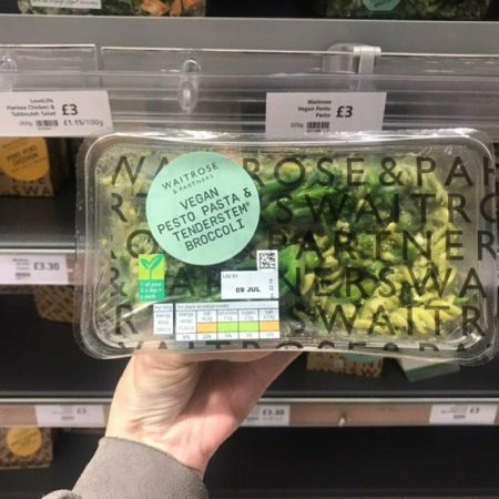 Waitrose Vegan Pesto Pasta & Tenderstem Broccoli 225g