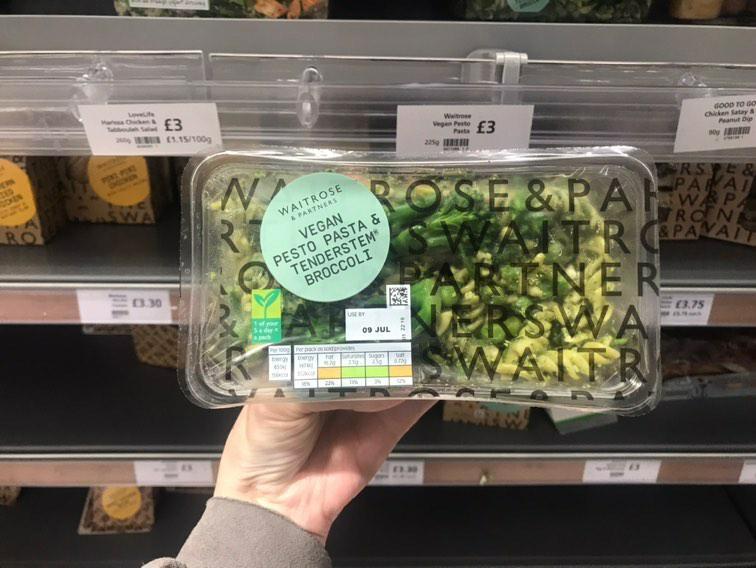 Waitrose Vegan Pesto Pasta & Tenderstem Broccoli 225g