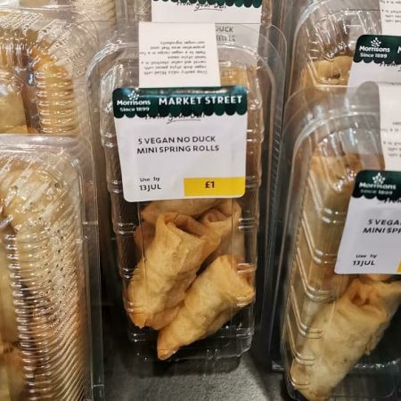 Morrisons 5 Vegan No Duck Spring Rolls
