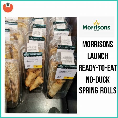 "Ready To Eat Vegan ""Duck"" Spring Rolls Launch at Morrisons"