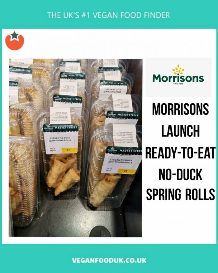 """Ready To Eat Vegan """"Duck"""" Spring Rolls Launch at Morrisons"""