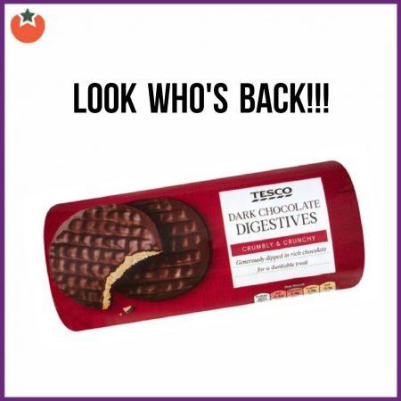 Dark Chocolate Digestives Return to Tesco