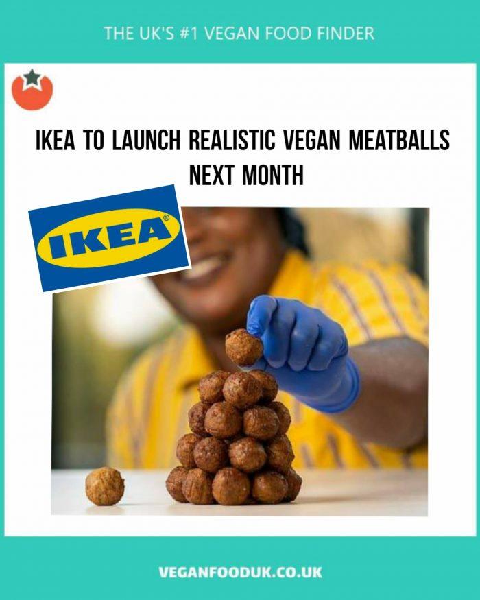 IKEA To Launch 'Realistic' Vegan Meatballs Next Month