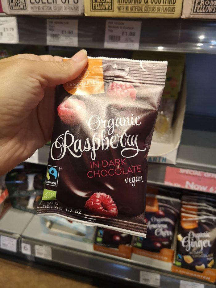 Landgarten Raspberry In Dark Chocolate 50g